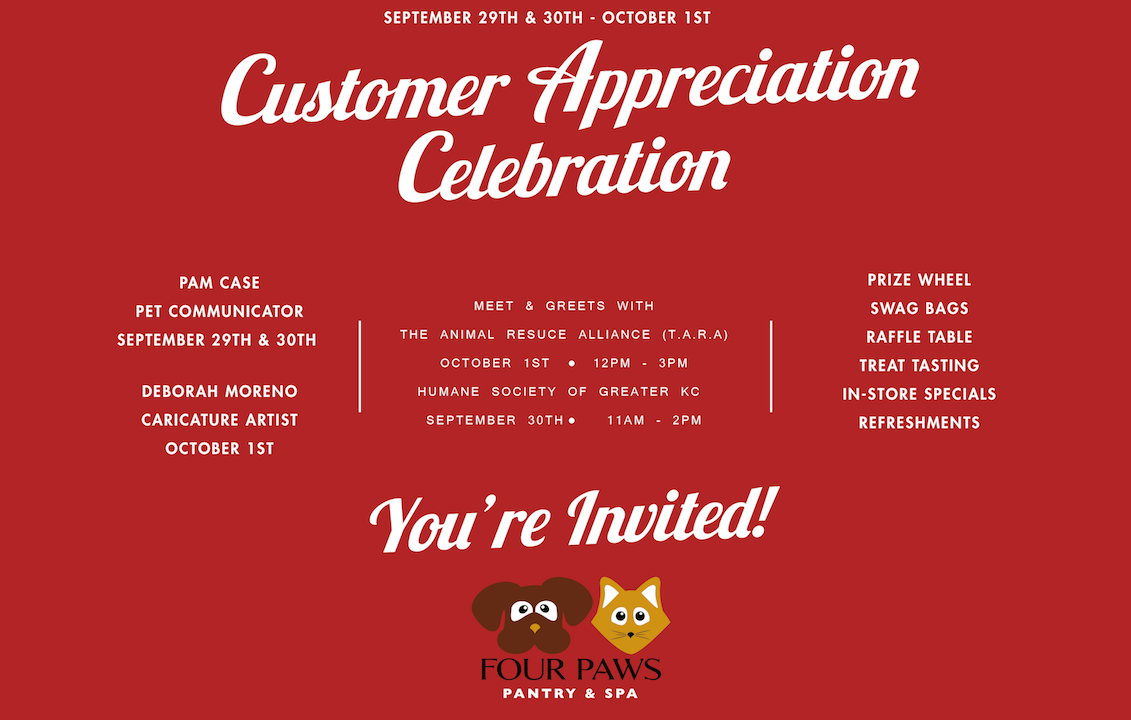 Customer Appreciation 2017 Four Paws Pantry
